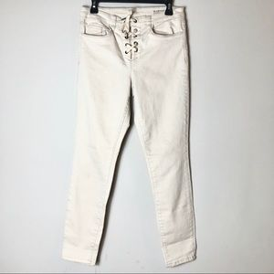 Blank NYC Lace Up Skinny Jeans